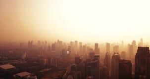 剪影摩天大楼在街市的雅加达 股票视频