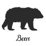 剪影熊 免版税库存图片