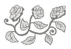剪影玫瑰色样式 免版税库存照片