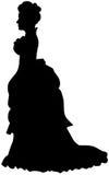 剪影维多利亚女王时代的著名人物 免版税图库摄影