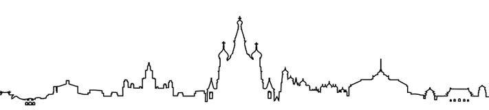 剪影莫斯科一条线-传染媒介 库存例证