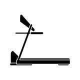 剪影踏车机器体育健身 免版税库存图片