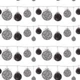 黑剪影问候圣诞节样式 图库摄影