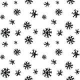 黑剪影问候雪样式 库存图片