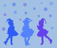 剪影,妇女,例证,人们,舞蹈,传染媒介,爱,秀丽,党,圣诞节,愉快,男孩,头发,美丽,抽象,红色 库存照片