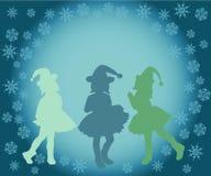 剪影,妇女,例证,人们,舞蹈,爱,秀丽,党,圣诞节,愉快,男孩,头发,美丽,抽象,红色 库存图片