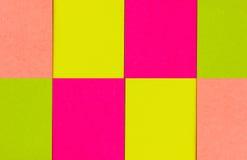 剪报便条纸路径影子粘性黄色 库存图片
