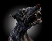 剪报地狱猎犬嗥叫路径 免版税库存图片