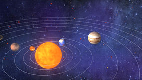 剪报地球重点水银路径太阳系金星 影视素材