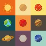 剪报地球重点水银路径太阳系金星 库存照片