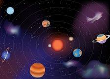 剪报地球重点水银路径太阳系金星 库存图片