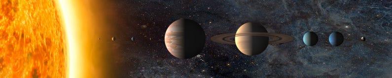 剪报地球重点水银路径太阳系金星 免版税库存照片