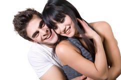 剪报夫妇笑的路径 图库摄影