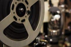 剪报影片包括的路径放映机葡萄酒 免版税库存图片