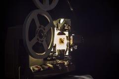 剪报影片包括的路径放映机葡萄酒 免版税图库摄影
