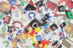 剪报拼贴画数字式做的报纸 免版税库存照片