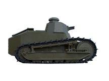剪报查出的老路径坦克 库存图片
