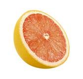 剪报葡萄柚路径片式 库存照片