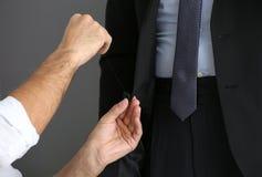 剪裁商人的Seamster正式衣服 免版税库存图片
