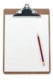剪贴板被排行的纸张 免版税库存照片