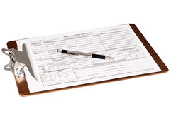 剪贴板许可证婚姻 库存图片