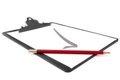 剪贴板铅笔 免版税图库摄影