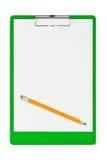 剪贴板铅笔 免版税库存图片