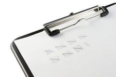剪贴板标记帐簿 免版税库存照片