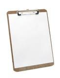 剪贴板纸白色 库存照片