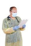 剪贴板读取外科医生 免版税库存图片