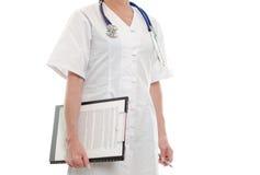 剪贴板医生女性藏品 图库摄影