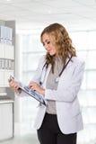 剪贴板医生女性藏品 免版税库存照片