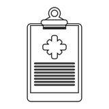 剪贴板医疗报告诊所变薄线 向量例证