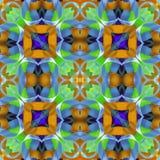 剪贴薄的丝绸五颜六色的丝带背景, 与镜象反射的拼贴画 无缝的模式 库存照片