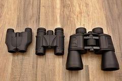 3副双筒望远镜 免版税库存照片