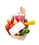副食品列表 免版税图库摄影
