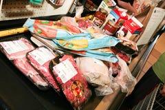 副食品采购 库存图片