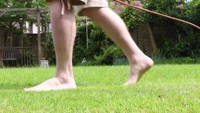 割草坪 影视素材