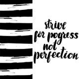 力争不是进展完美 库存例证
