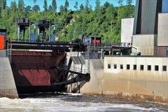 水力发电生产在瑞典 免版税图库摄影