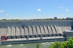 水力发电的驻地Lewiston 免版税库存照片