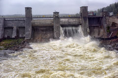 水力发电的imatra发电站 库存图片