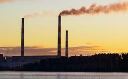 水力发电站,植物 免版税图库摄影
