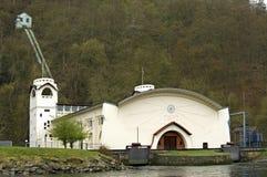 水力发电站,自然储备埃菲尔山 库存图片