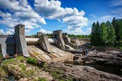 水力发电站水坝在伊马特拉 库存图片