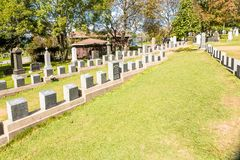 力大无比的公墓 地方在t的市哈利法克斯在加拿大 免版税库存照片