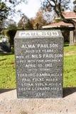 力大无比的公墓 地方在t的市哈利法克斯在加拿大 免版税图库摄影