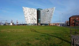 力大无比的经验博物馆在贝尔法斯特,北爱尔兰 库存照片