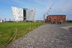 力大无比的经验博物馆在贝尔法斯特,北爱尔兰 免版税库存照片