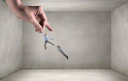 力量和控制的手 混合画法 免版税库存照片